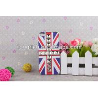 Buy cheap brand new flag and rivet design hard case for IPhone 5 from wholesalers