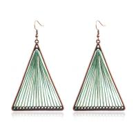 Buy cheap Hand-Knitted Line Ear Fringed Geometric Triangle Earrings from wholesalers