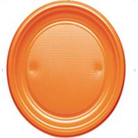 Buy cheap 6 inch PS Orange plastic plates,dinnerware plate, from wholesalers