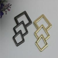 Buy cheap Novelty design triangle pattern gold & gunmetal zinc alloy metal logo plate for shoes accessories from wholesalers