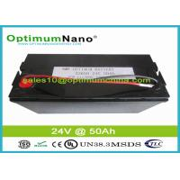 Buy cheap 24V 50Ah Lifepo4 Rechargeable Battery Eco-Friendly For Solar Energy Storage from wholesalers