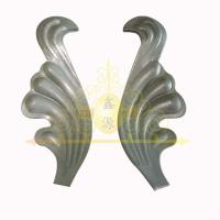 Buy cheap decorative wrought iron stamped leaf and flower from wholesalers