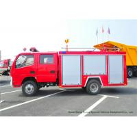 Buy cheap Fast Rescue 4x2 95HP Water Tank Fire Fighting Truck , Light Duty Fire Tender Vehicle from wholesalers