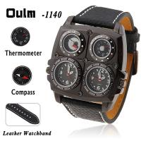 Buy cheap Oulm genuine big dial watch double movement with compass thermometer watch outdoor watches men watch from wholesalers
