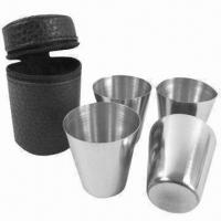Buy cheap 3oz Shot Glass Set, Made of Stainless Steel, OEM/ODM Services are Provided from wholesalers