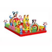 Buy cheap Anti - Static Kids Inflatable Jumping Castle , 0.55mm PVC Childrens Indoor Bouncy Castle from wholesalers