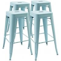 Buy cheap High Metal Stool Backless Industrial Bar Stools , Restaurant Stacking Chairs Indoor Outdoor from wholesalers