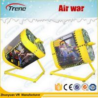 Buy cheap Amusement Park 720 Degree Yellow VR Flight Simulator With HTC Glasses 220 Volt from wholesalers