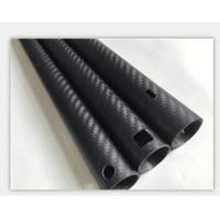 Buy cheap CNC cutting drilling carbon fiber tube carbon fiber pole 25*21.4*1410mm from Wholesalers