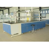 Buy cheap Custom Steel And Wood Modular Laboratory Furniture Island Bench With Sink from wholesalers