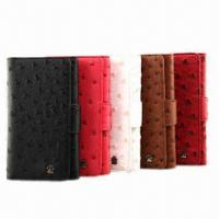 Buy cheap New Design PU Cases for Samsung, with Ostrich Pattern from wholesalers