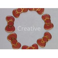 Buy cheap Bright Gold Glitter Resin Domed Labels Epoxy Dome Stickers Butterfly Shape product