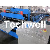 China Manual, Automatical Type Color Steel Tile Roll Forming Machine With High Grade 45# Axis on sale