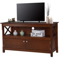 Buy cheap Large Living Room Wooden Television Stands With Open Shelf / X Side Cabinets from wholesalers