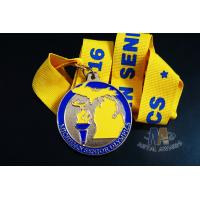 Buy cheap Olympics Game Badminton Custom Sports Medals With Shiny Copper Plating Printing RIbbon And Soft Enamel from wholesalers