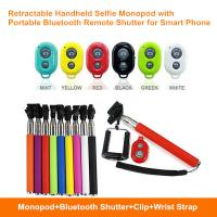 Buy cheap Hot Retractable Handheld Selfie Monopod with Portable Bluetooth Remote Shutter for Samrtphone from wholesalers