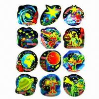 Buy cheap Glow in dark luminous stickers, used for promotional gifts, advertisement and premiums, SGS standard product