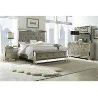 Buy cheap Wooden Design King Size Mirrored Bed , Dresser Mirrored Bedroom Furniture Set from wholesalers