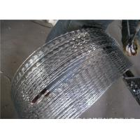 Buy cheap Rusty  Concertina Stainless Steel Security Barbed Wire  Ribbon   , CBT-65 Razor Barbed Tape from wholesalers