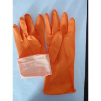 Buy cheap 45g ORANGE household gloves dish washing gloves latex gloves disposable gloves from wholesalers