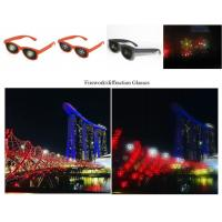 Buy cheap Black Frame Diffraction 3D Glasses For Fireworks , Rainbow Viewing Glasses with adult and kids size from wholesalers