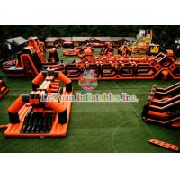 Buy cheap Running Race Inflatable Obstacle Course , Amusement Park Inflatable Sports Games from wholesalers