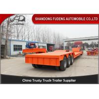Buy cheap Front Loading lowboy Trailer 80 -100 Tons carry heavy equipment from wholesalers