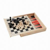 China Wooden Game/Toys Chess Set, 5-in-1 Game  on sale