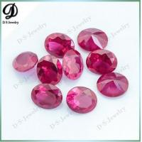 Buy cheap China synthetic 8x10mm 5# red color ruby corundum ruby price from wholesalers