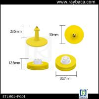 Buy cheap Plastic Pig Ear Tags RFID LF Animal Tag 134.2Khz Frequency With H3 Chips from wholesalers