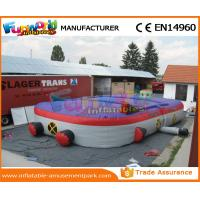 Buy cheap Purple Inflatable Sports Games Inflatable Laser Tag Arena 0.55mm PVC Tarpaulin from wholesalers