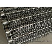 Stainless Steel Chain Mesh Conveyor Belt Lifting G80 Argon Welding Simple Design