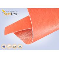 Buy cheap 590 g/sqm Silicone Coated Glass Fabric Fire Barrier Fabric For Heat Resistant Insulation from wholesalers