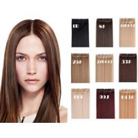 Buy cheap Dark Brown Long Synthetic Hair Extensions Silky Straight Hair Weave from wholesalers