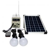 Buy cheap 10W; 20W; 50W Portable Solar Power System builted in radio functions FM/AM radio, USB from wholesalers