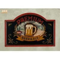 Buy cheap Custom Wooden Wall Signs Antique Wood Pub Sign Resin Beer Wall Decor Green Color from wholesalers
