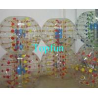 Buy cheap Shining Inflatable Bumper Ball With Coloful D-ring , Human Hamster Ball from wholesalers