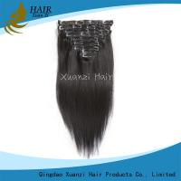 Buy cheap Malaysian Straight Clip In Virgin Hair Extensions Long Lasting 7A 10  -  30 Inch from wholesalers