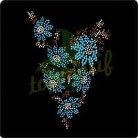 Buy cheap Beautiful flower Wholesale Iron On Rhinestone Design for clothing decorative stones from wholesalers