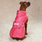 Buy cheap Fleece-Lined Stowaway Dog Rain Jacket Custom Dog Hoodies / doggie apparel XX XS from wholesalers
