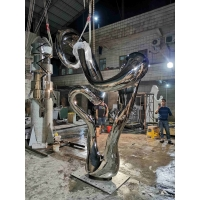 Buy cheap Silver Mirrored Outdoor Abstract Sculpture Sculpture Modern Stainless Steel Garden Ornaments from wholesalers