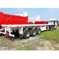Buy cheap 20ft 40ft 45ft 53ft 30 ton low Flatbed Semi Trailer fuwa axles from wholesalers