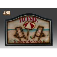 Buy cheap Beach Wall Decor Wooden Wall Plaques Decorative Wall Mounted Plaques White Color from wholesalers