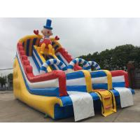 Buy cheap Outdoor Commercial Inflatable Water Slides Fire Retardant Anti - UV PVC Tarpaulin from wholesalers