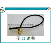 Buy cheap 50 Ohms Pigtail RF Coaxial Cable , SMA Male Plug To MMCX Right Angle With RG174 Cable product