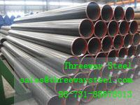 Buy cheap Welded LSAW Pipe galvanized / black carbon seamless steel pipe from wholesalers