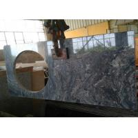 Buy cheap 22 x 60 inches Ganges Black Prefab Granite Vanity Tops with left sink hole from wholesalers