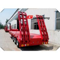 Buy cheap Tri Axle Low Bed Semi Trailer Heavy Duty 40ft 4 Axle 60 Tons Lowboy Trailer from wholesalers