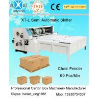 Buy cheap Industrial Die Cutter Printing Slotting Machine Lead Edge Of Paper Feeding from wholesalers