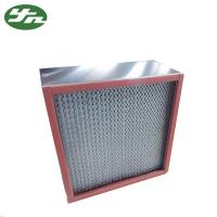 Buy cheap SS 304 HEPA Air Filter Resistance High Temperature For High Temp Clean Area from wholesalers